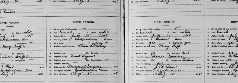 elva allen birth return