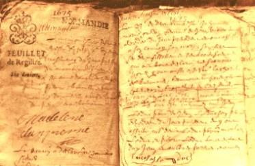 Register from Sainte-Marie-Madelienem
