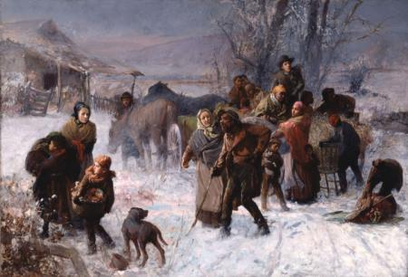 The Underground Railroad ~ painting by Charles T. Webber, 1891