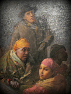 Levi Coffin with Escaping Slaves ~ detail from Webber Painting
